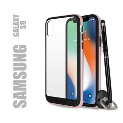 Coque rigide premium - X-Bumper or rose pour Samsung Galaxy S9