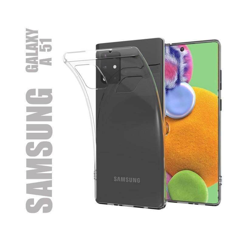Coque de protection en gel silicone souple transparent pour Samsung Galaxy A51