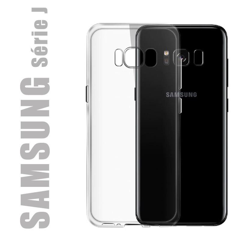 Coque de protection en gel silicone transparent pour Samsung Série J