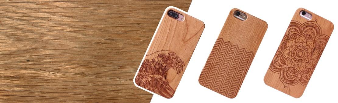 Accessoires en bois pour smartphones